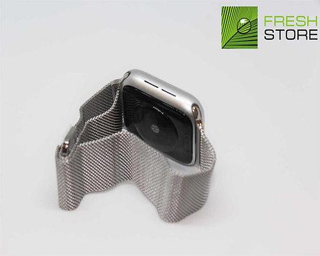 Ремешок - Миланский сетчатый браслет для Apple Watch цвет серебристый 38/40ММ