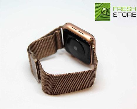 Ремешок - сетчатый браслет миланское плетение Apple Watch золотистый 38/40ММ