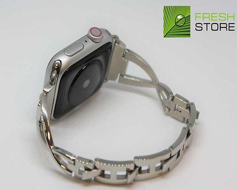 Ремешок для Apple Watch со стразами из нержавеющей стали