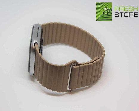 Ремешок для Apple Watch кожаный с застежкой