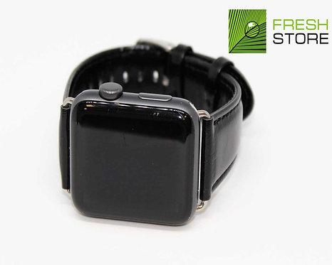 Ремешок Apple Watch кожаный с классической застежкой цвет черный 42/44ММ