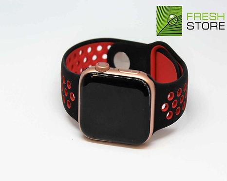 Ремешок спортивный Gurdini для Apple Watch цвет черно-красный 38/40ММ
