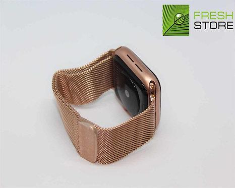 Ремешок - миланский сетчатый браслет для Apple Watch цвет розовое золото 38/40ММ
