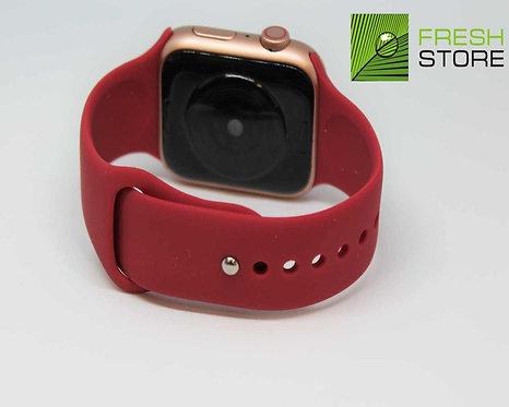 Ремешок спортивный Gurdini для Apple Watch цвет розово-красный 42/44ММ