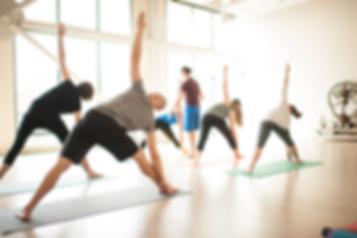 Intermediate yoga class