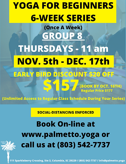 GROUP 8 - NOV 5 11 AM - YOGA FOR BEGINNE