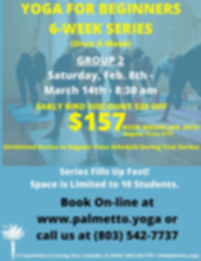 157 - YOGA FOR BEGINNERS 6-WEEK SERIES (