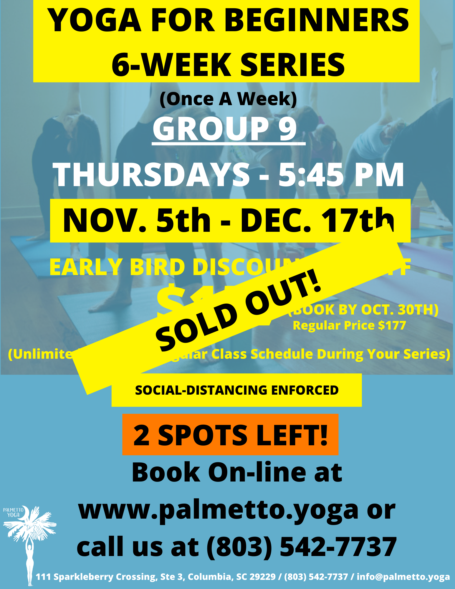 SOLD OUT - nov 5 545 - YOGA FOR BEGINNER