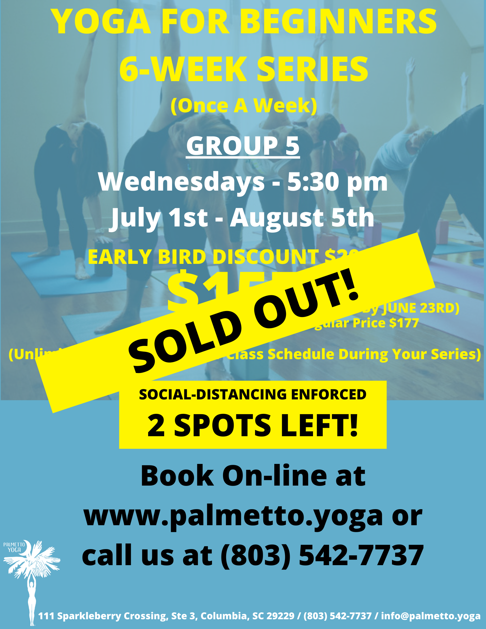 SOLD OUT - YOGA FOR BEGINNERS 6-WEEK SER