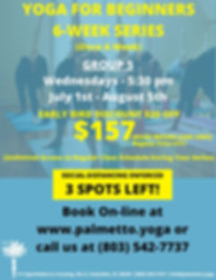 YOGA FOR BEGINNERS 6-WEEK SERIES July 1s