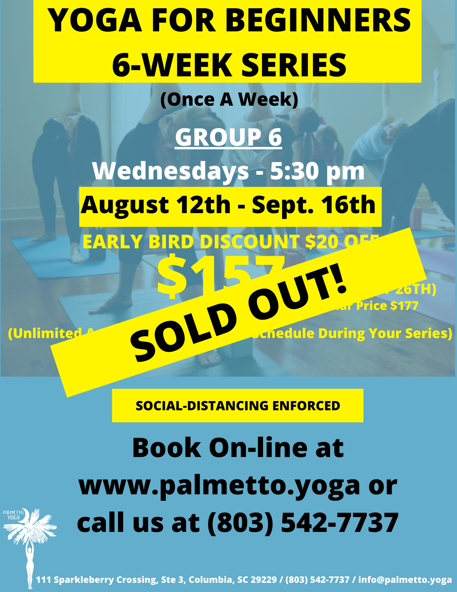 Aug 22 -YOGA FOR BEGINNERS 6-WEEK SERIES
