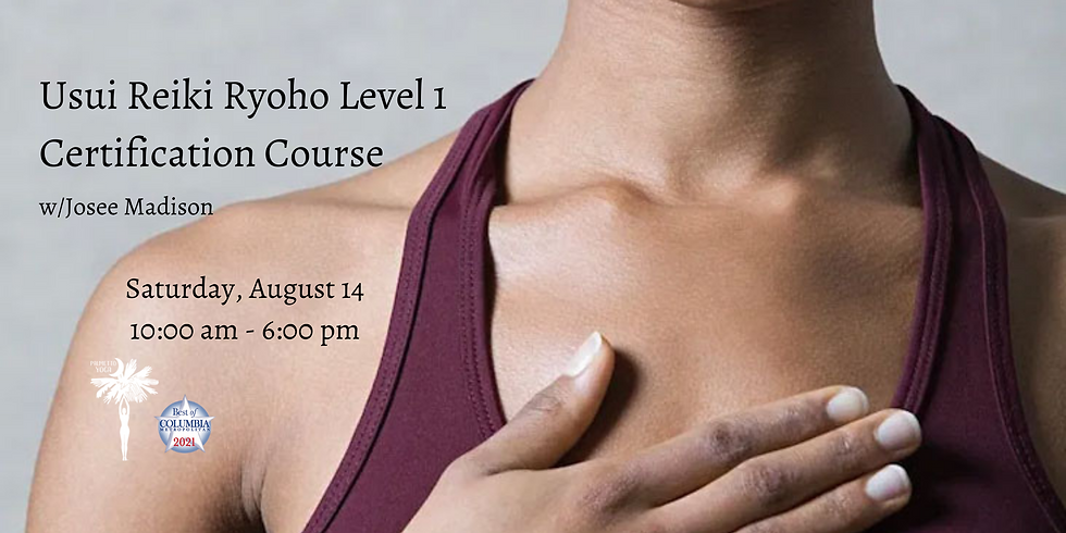 SOLD OUT! - USUI RYOHO REIKI LEVEL 1 CERTIFICATION COURSE