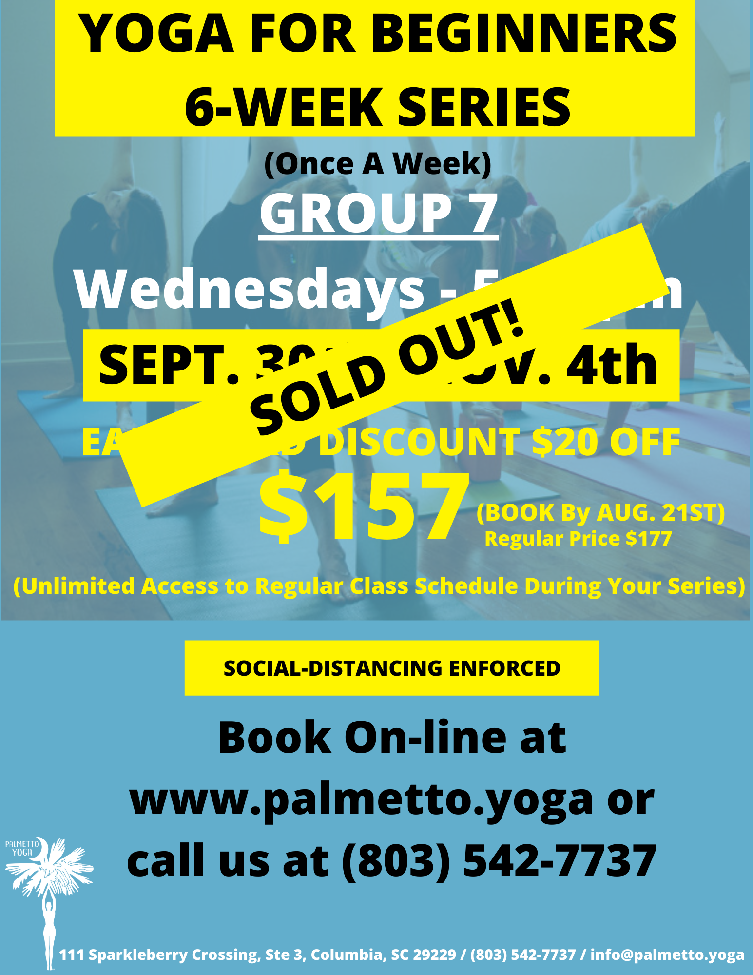Sept 30 - YOGA FOR BEGINNERS 6-WEEK SERI