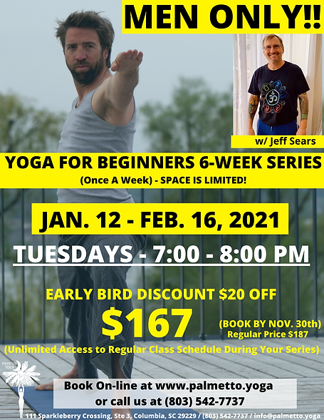 MEN YOGA  - jan 12 YOGA FOR BEGINNERS 6-