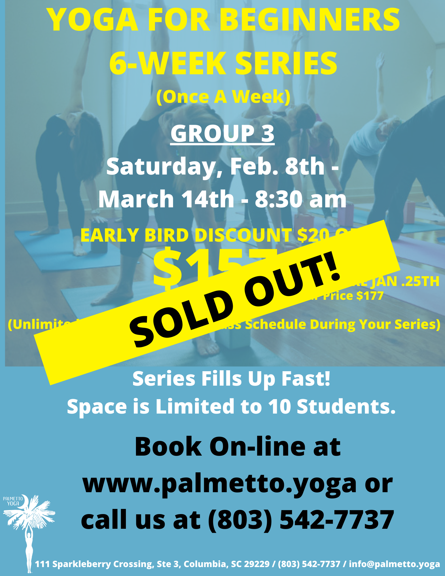 Group 3- YOGA FOR BEGINNERS 6-WEEK SERIE