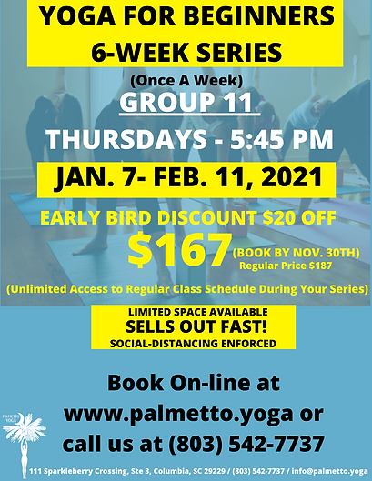 Jan 7 545  YOGA FOR BEGINNERS 6-WEEK SER