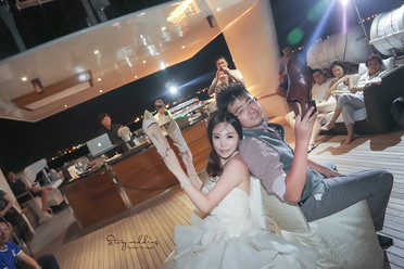 Unique Yacht Wedding @ Sentosa Singpaore