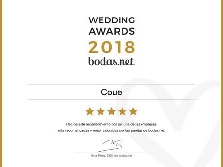 Coue se hace con el galardón más reconocido de las bodas: Wedding Awards 2018 en la categoría Fotogr