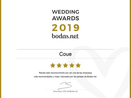 Coue recibe el Wedding Award 2019 por segundo año consecutivo