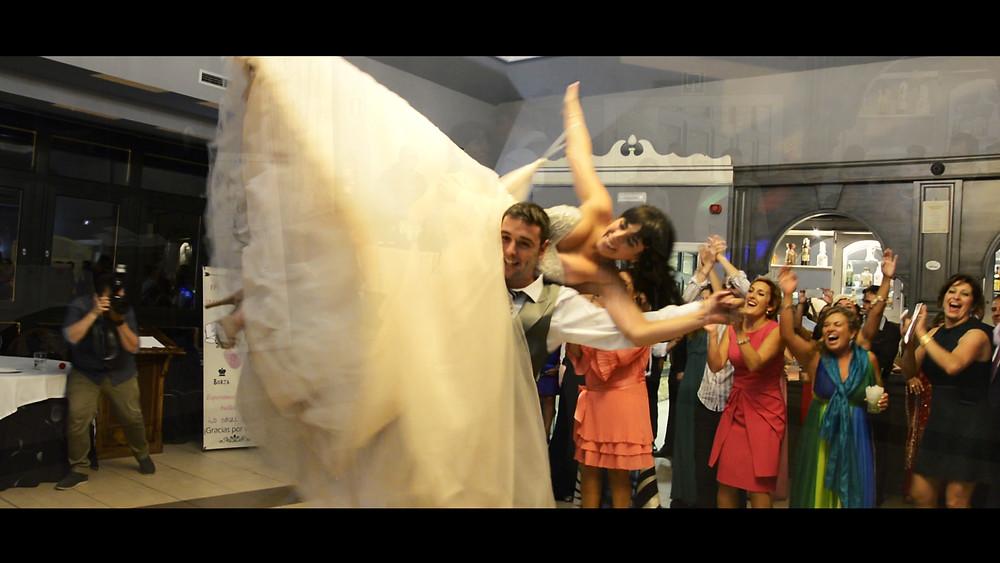 Baile de casados en una boda en el Palacio de Cimiano