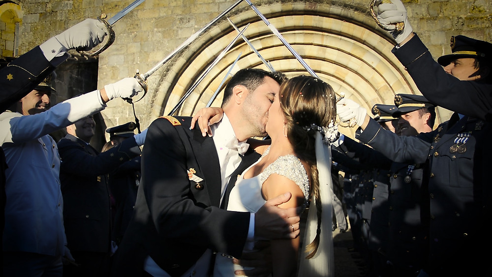 Una boda militar española en Cantabria