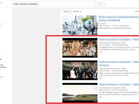 Los vídeos de boda de Cantabria más vistos en YouTube de 2016