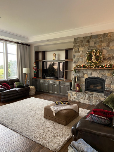 Living and Fireplace Remodel