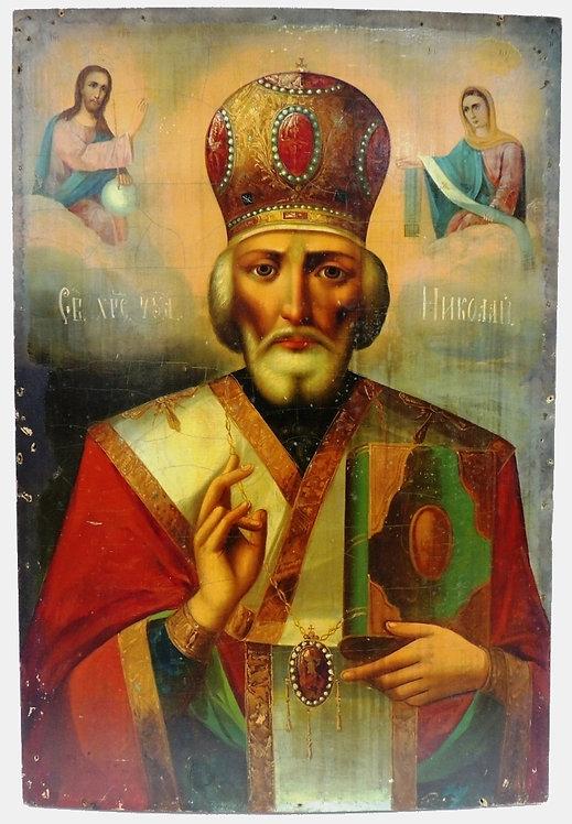 Икона святого Николая Чудотворца; 19 век