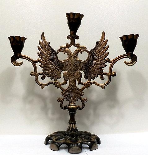 Канделябр Двуглавый орел на 3 свечи СССР, 80-е годы