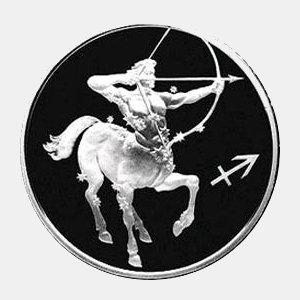 "Серебряная монета 3 рубля 2003 г. Знак зодиака ""Стрелец"""