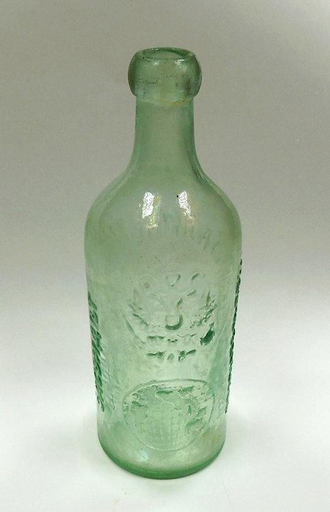"""Бутылка антикварная """"Калинкин. Удостоверенно Правительством"""" 1896 г."""