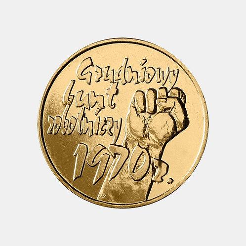 Польша 2 злотых 2000 г. 30 лет волнениям в Польше в декабре 1970 - январе 1971 г