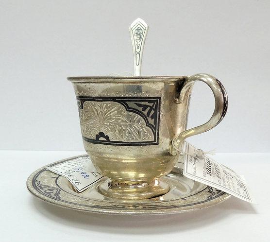 Набор из трех серебрянных предметов