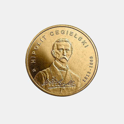 Польша 2 злотых 2013 года. 200 лет со дня рождения Ипполита Цегельского.