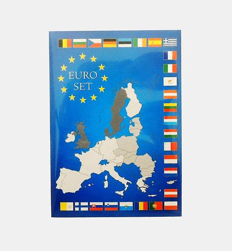 Набор 8 евромонет (с 1 цента до 2 евро) в буклете