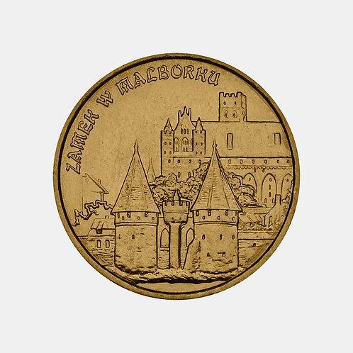 Польша 2 злотых 2002 года. Замки и дворцы Польши. Замок в Мальборке.