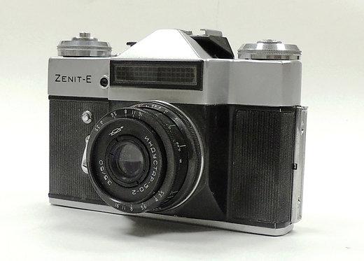 """Винтажный фотоаппарат """"Зенит-Е"""" 75-80 г. 20 века. Кожанный чехол"""
