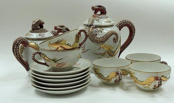 """Сервиз чайный фарфоровый """"Древний Китай"""" 12 предметов"""