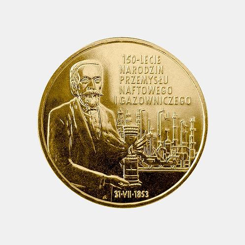 Польша 2 злотых 2003 года. 150 лет газово-нефтяной промышленности Польши.