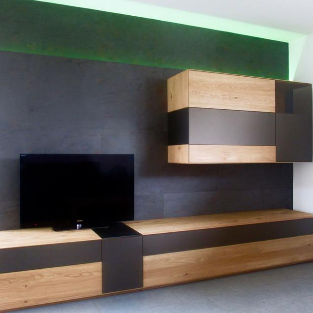 Wohnwand mit Arcobaleno Colore