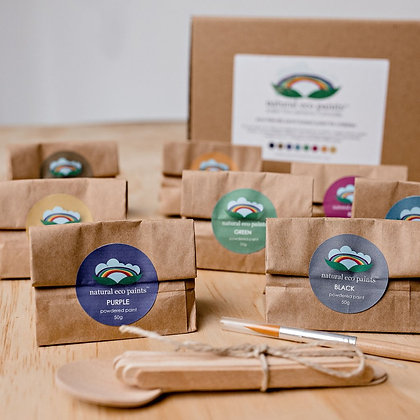 Natural eco paint set