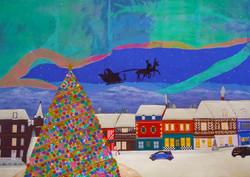 クリスマス&オーロラ