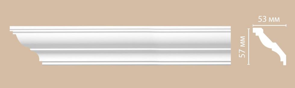 Потолочный плинтус гладкий DP_350