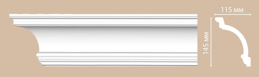Потолочный плинтус гладкий DP_217