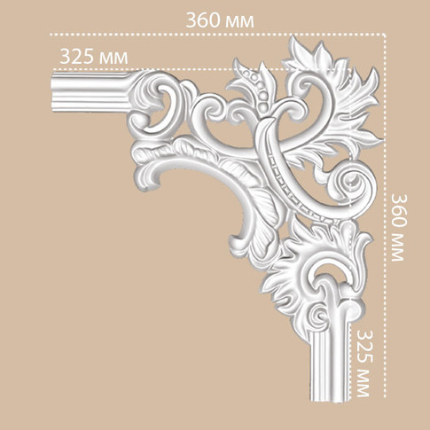 Угол декоративный 97803-2R