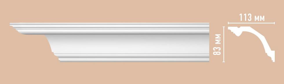 Потолочный плинтус гладкий DP 353