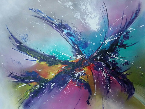 FEERIE art abstrait contemporain Patrice bru Occitanie