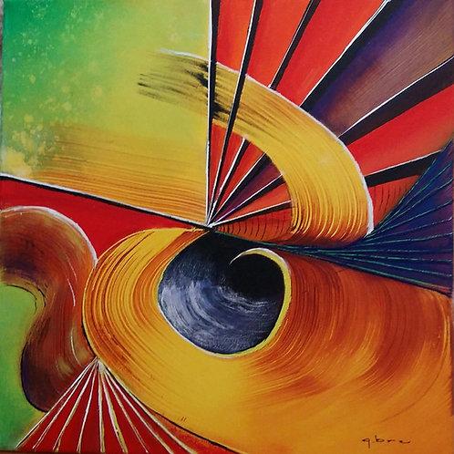 HELIX tableau  géométrique art abstrait contemporain