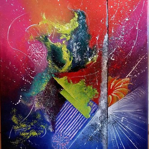 VIBY peinture abstraite acrylique art abstrait contemporain