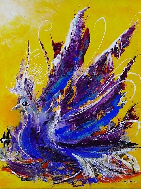 L'oiseau-bleu-Patrice-Bru-artiste-peintre-figuratif
